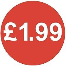 Audioprint Lot Petit 13mm £ 1,99Prix Stickers-10000PACK