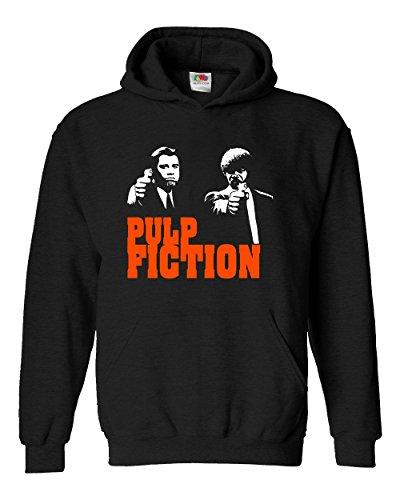 """Felpa Unisex """"Pulp Fiction"""" - Felpa con cappuccio Tarantino LaMAGLIERIA, L, Nero"""