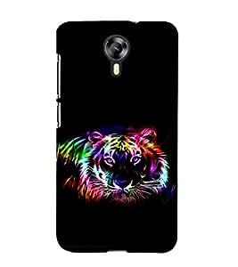 printtech Tiger Colored Streak Back Case Cover for Micromax Canvas Xpress 2 E313