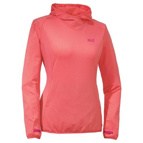 Jack Wolfskin Damen Shirt Sunny Trail Long Sleeve Women, Grapefruit, XXL, 1802531-2037006