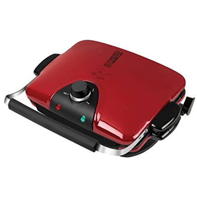 George Foreman GRP90WGR Next Grilleration Electric Nonstick Grill with 5 Removable Plates, Red by George Foreman