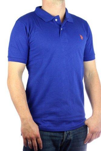 US Polo Assn. genuine Men´s Small Pony Polo shirt blue-orange mens