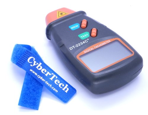 CyberTech Digital Photo Tachometer Non Contact Tach bundle CyberTech Cable Tie