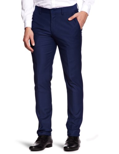 Vito Bowler Straight Men's Trousers Navy Small