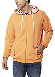 Chumbak Men's Cotton Sweatshirt (8904218038928_CTS075 M_Medium_Orange)
