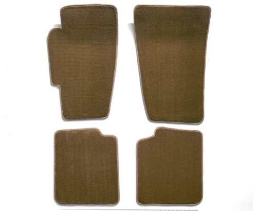 Premier Custom Fit 4-piece Set Carpet Floor Mats for Mercedes-Benz S Series (Premium Nylon, Beige)