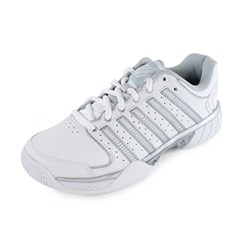 K-Swiss Hypercourt Express LTR Women's Tennis Shoes (White/Silver/Glacier Gray) (8.5 B(M) U.S.)