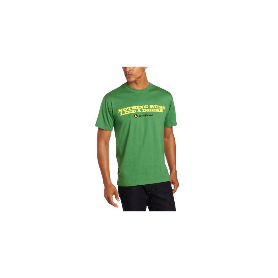 John Deere Mens Core Short Sleeve Tee, Green, Medium