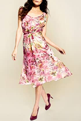 Per Una Speziale Pure Silk Meadow Print Dress [T62-8849H-S-LCTB]
