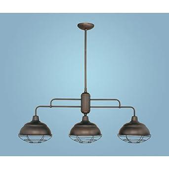 neo industrial 3 light kitchen pendant finish