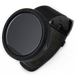 Moretek Protector Cases for Moto 360 Smart Watch Bumper (black)