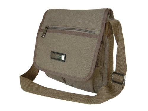 Man Bag in Brown Heavy Duty Cotton Canvas by Rocklands, Ariana Style, Versatility and Quality