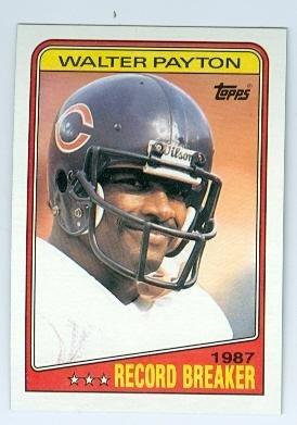 Walter Payton football card (Chicago Bears) 1988 Topps #5 Record Breaker Rushing Touchdowns