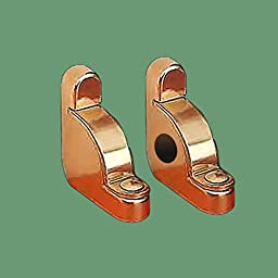 Pair Carpet Rod Brackets Solid Brass Stair Holder | Renovator\'s Supply