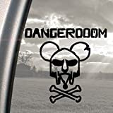 DANGER DOOM Black Decal MOUSE MASK MF HIP-HOP Car Sticker