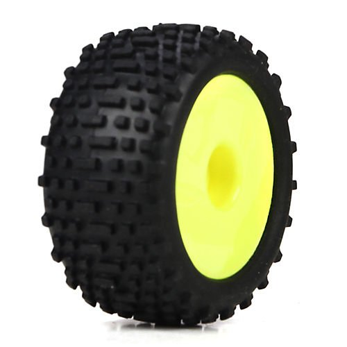 Wheel & Tire Set, Yellow: Micro Truggy - 1