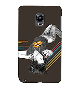 Fuson Sweet Girl Back Case Cover for SAMSUNG GALAXY NOTE EDGE - D3883
