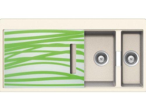 Schock Horizont D-150 A G Magnolia Granitspüle Beige Auflage Küche Einbau-Spüle