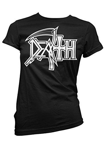 T-shirt Donna Death - Maglietta 100% cotone LaMAGLIERIA,M, Nero