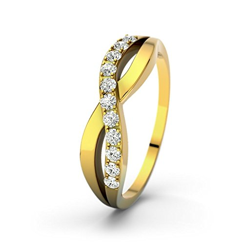 21DIAMONDS Women's Ring Brookelyn Ct Brilliant Cut Diamond Engagement Ring 14ct Yellow Gold Engagement Ring