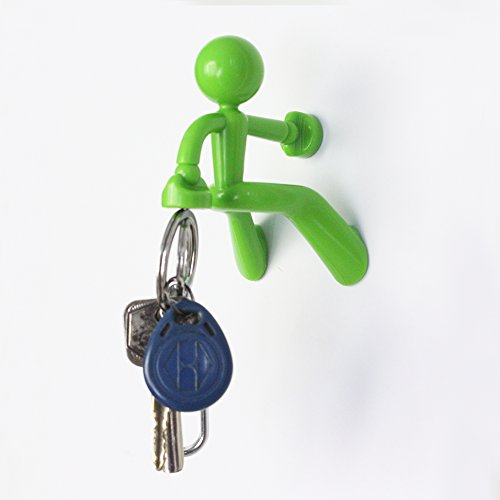 Key Pete Strong Lovely Functional Magnetic Key Holder Hook Rack Stick Note Gift Toy for Anyone (Green)