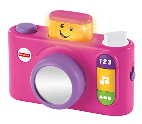 Fisher-Price Laugh & Learn Click 'n Learn Camera, Pink