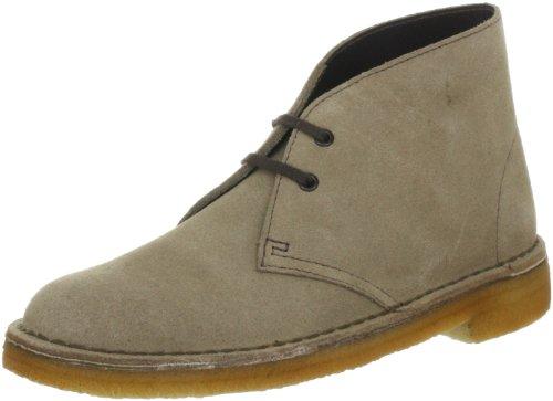 Clarks Desert Boot Desert Boots Womens Gray Grau (WOLF SUEDE) Size: 3 (35.5 EU)