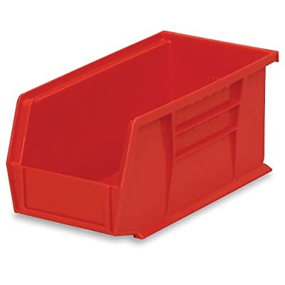Akro-Mils 30230 11-Inch by 5-Inch by 5-Inch Plastic Storage Stacking Hanging Akro Bin, Berry, 12-Pack