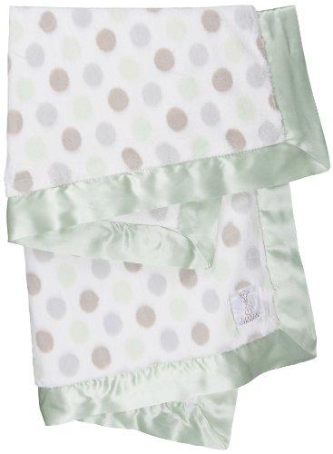 Little Giraffe Luxe Dot Baby Blanket, Celadon - 1