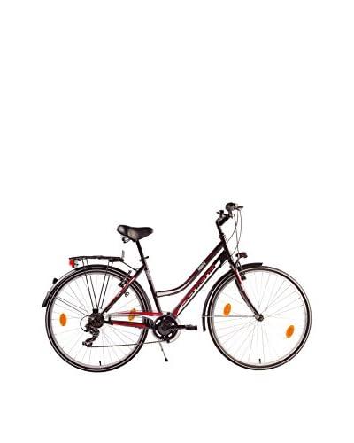 SCH Bicicleta Trekking 28″ Infinity Acc. 6 V Eco Power Negro / Rojo