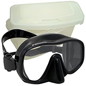 Buy Promate Shamu Frameless Scuba Dive Spearfishing Mask with mask protective box by Promate