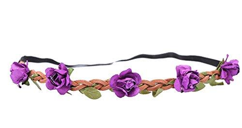 wtb pc nia flores de hada bohemian braid de mitras de playa de boda tiara de