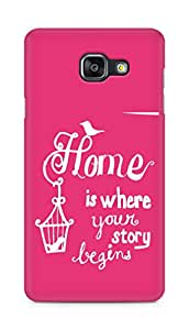 AMEZ home is where your story begins Back Cover For Samsung Galaxy A5 (2016 EDITION)