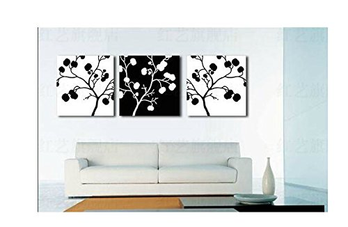 Xm Art-The Black White Branch Of The Continuous 100% Hand-Painted Passion Color High Q. Home Decoration Modern Abstract Best-Selling Oil Painting On Canvas (Unstretch No Frame) front-926567