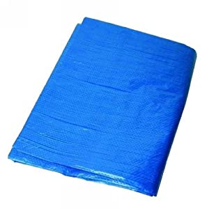 FoxHunter 25FT(7.6M) X 18FT(5.48M) Heavy Duty Waterproof Tarpaulin Groundsheet Cover Tarp Sheet with Strong Aluminium Eyelets and Plastic Reinforced Corners Great for Camping and Outdoor Purpose