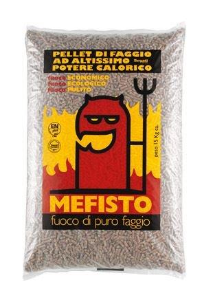MEFISTO Pellet di Puro Faggio 100% sacco da 15 kg.