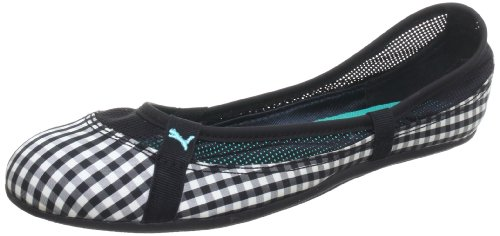 Puma Elsie Gingham 354799, Damen Ballerinas, Schwarz (black 02), EU 37.5 (UK 4.5) (US 7)