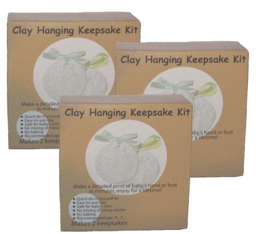 3pk - Clay Hanging Keepsake Baby Prints Kit