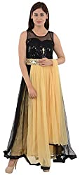Wedding Pearls Women's Dress (Yellow and Black)