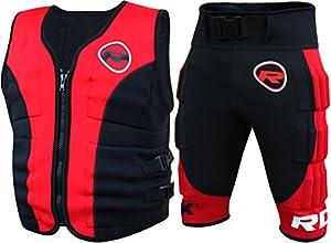Auténtico RDX ponderado 23 Traje Kg Entrenamiento Chaleco Chaqueta de running Pantalones cortos de pérdida de peso 10, 20 W