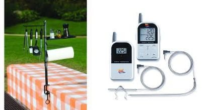 Maverick Et-732 Remote BBQ Smoker Thermometer With BBQ Accessory Organizer Set