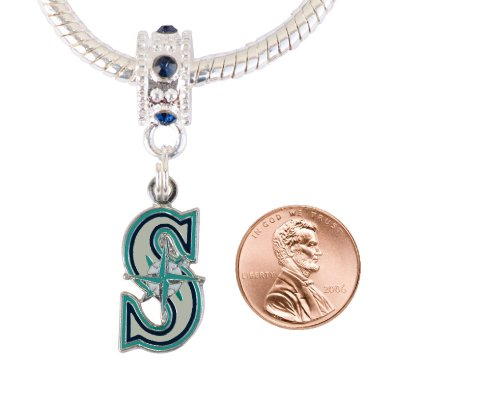 Seattle Mariners Charm with Connector Will Fit Pandora, Troll, Biagi and More. Can Also Be Worn As a Pendant. at Amazon.com