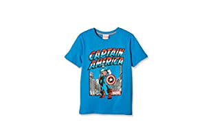 MARVEL Camiseta Manga Corta Captain America Guardian (Azul)