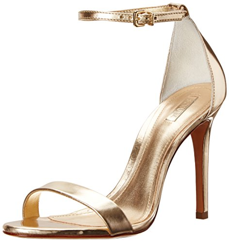 Image of Schutz Women's Cadey Lee High Heel Dress Sandal, Platina, 8 M US