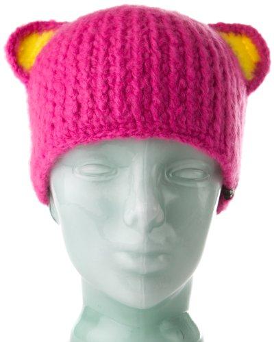 Spacecraft Buddha Bear Beanie, Pink, One Size
