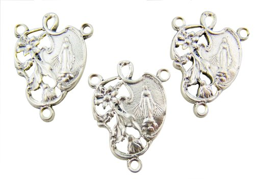 Lot of 3!! Made in Italy! Catholic Gift Silver
