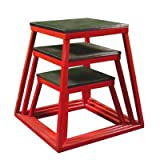 "Plyometric Platform Box Set- 12"", 18"", 24"" Red ~ Ader Sporting Goods"