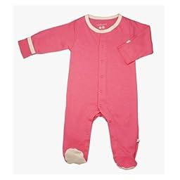 Babysoy Footie   (Baby) - Pink Lemonade-0-3 Months