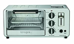 Waring WTO150 4-Slice Toaster Oven with Built-In 2-Slice Toaster by Waring
