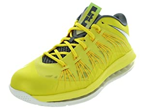 Nike Men's Air Max Lebron X Low Basketball Shoes Sonic Yellow/Sl/Cl Gry/Tr Yllw 9 Men US